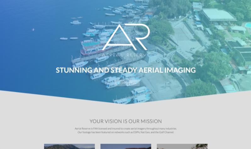 Aerial Reserve Web Screenshot